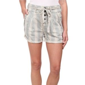 Free People Gingham Stripe Shorts